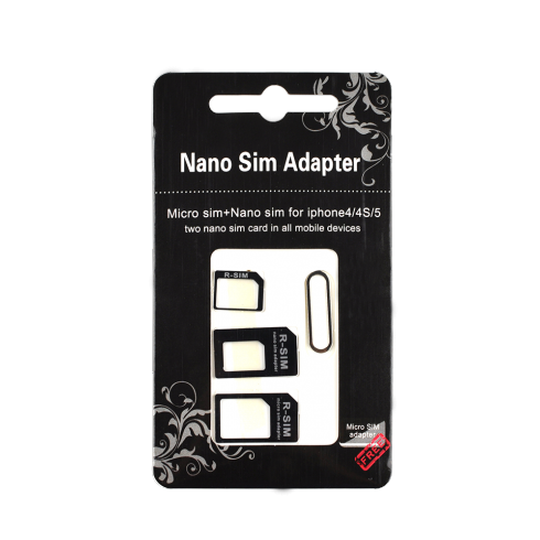 adaptateur carte sim nano micro pour iphone. Black Bedroom Furniture Sets. Home Design Ideas