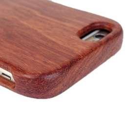 Coque pour iPhone en bois de rosier naturel
