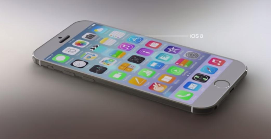 iPhone 6 avec iOS8