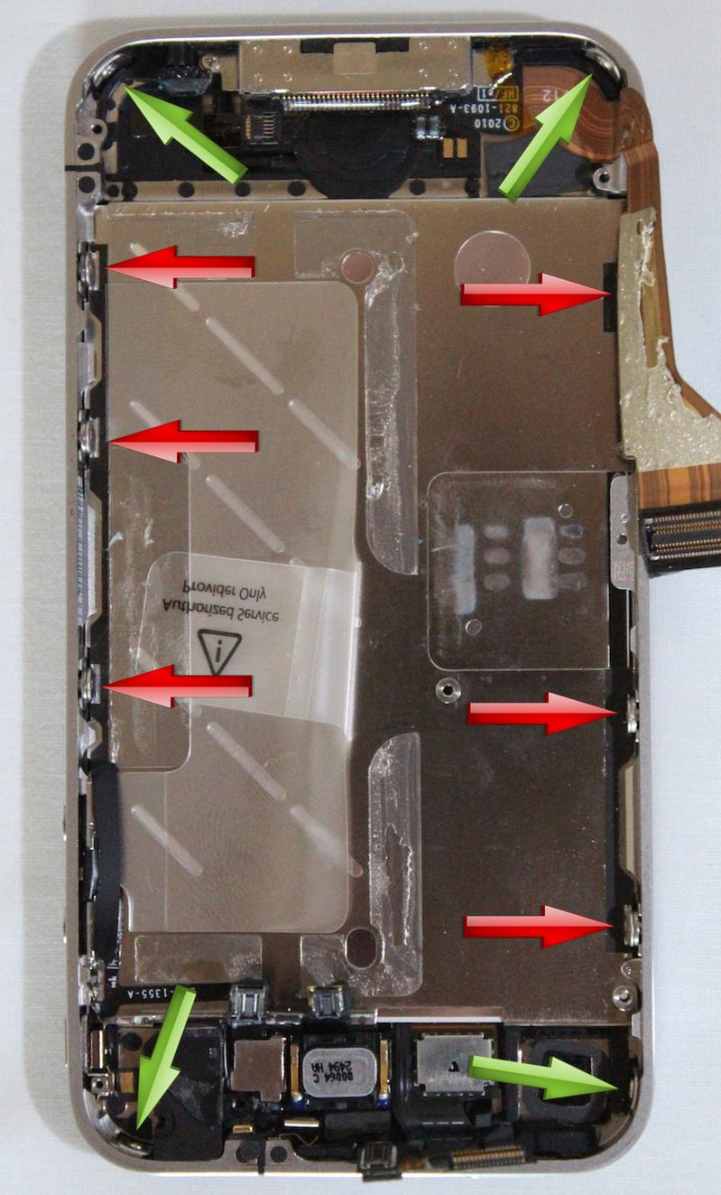 Réparation écran iphone 4